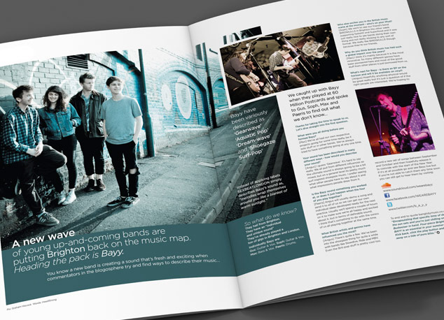 Creative design for a British hairdressing magazine.