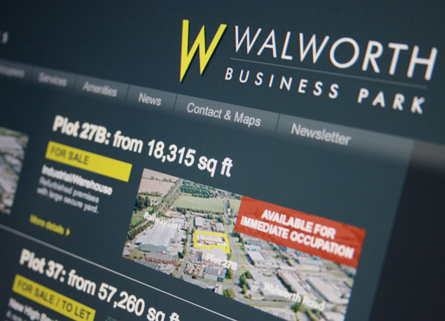 Business park website design and development