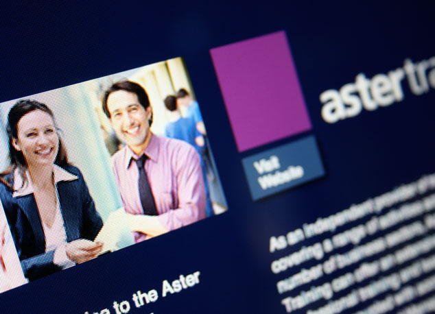 Aster Options website design and development