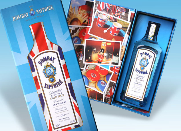 Bespoke packaging: a gift box for Bombay Sapphire