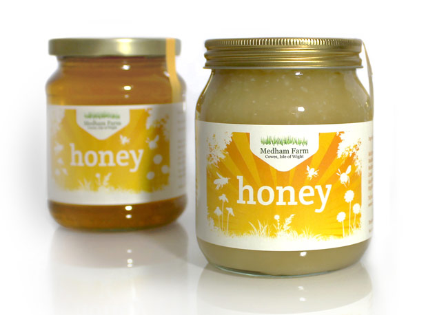Honey Jar Labels for Medham Farm