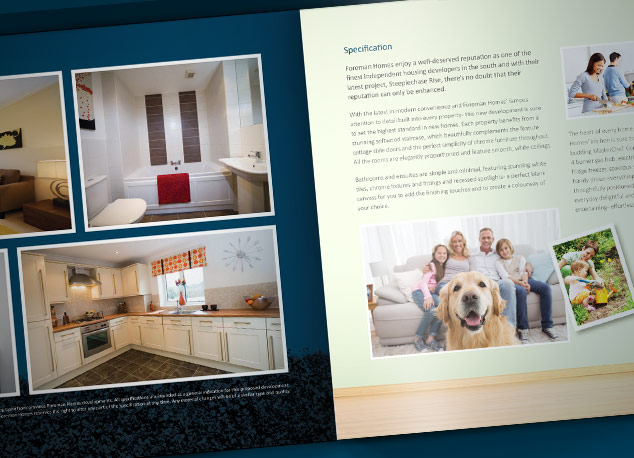 Brand identity and brochure design for a housing development in Andover.